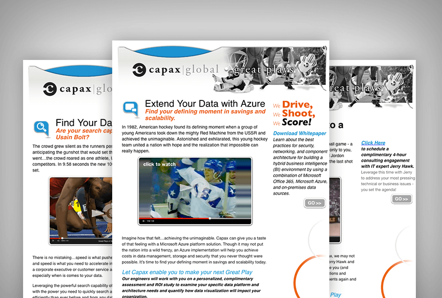 Great Plays – Capax Email Campaign