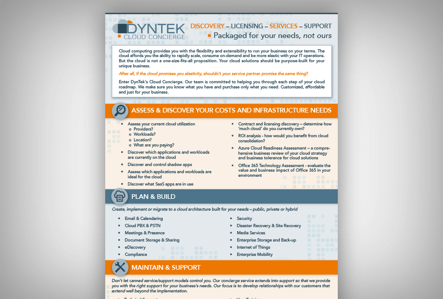 DynTek Cloud Concierge Infographic