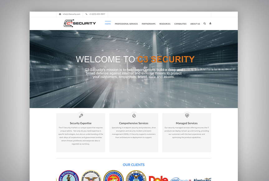 C3 Security Website