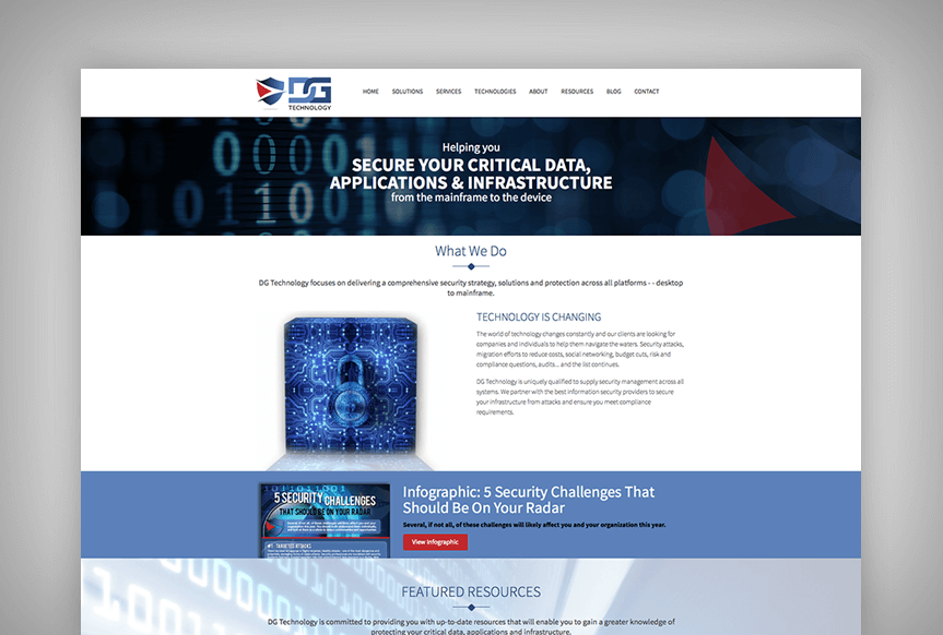 DG Technology Website